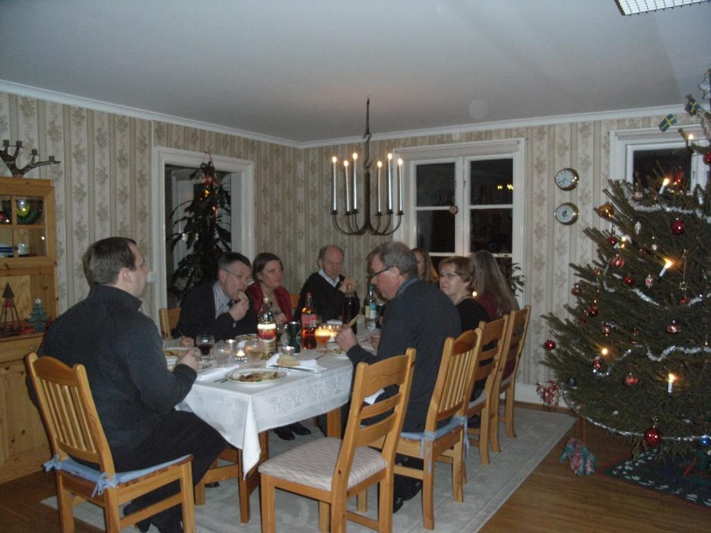 Nyårsfirande på prästgården- i salen.